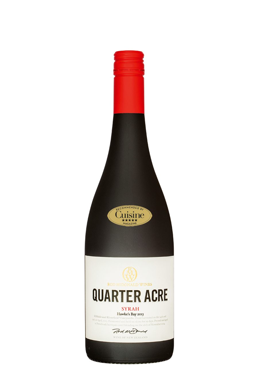 Rod McDonald Wines Quarter Acre Hawke's Bay Syrah 2013