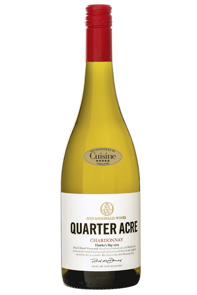 Rod McDonald Quarter Acre  Chardonnay 2015 (Hawke's Bay)