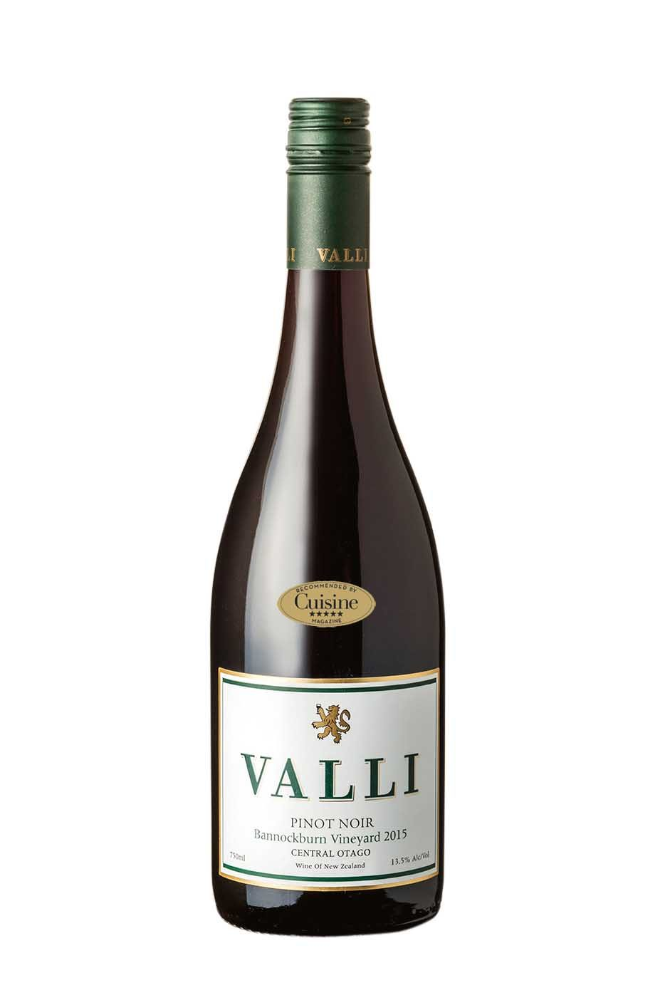 Valli Bannockburn Vineyard Pinot Noir 2015 (Central Otago)