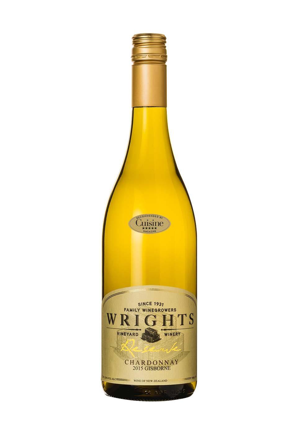 Wrights Reserve Gisborne Chardonnay 2015