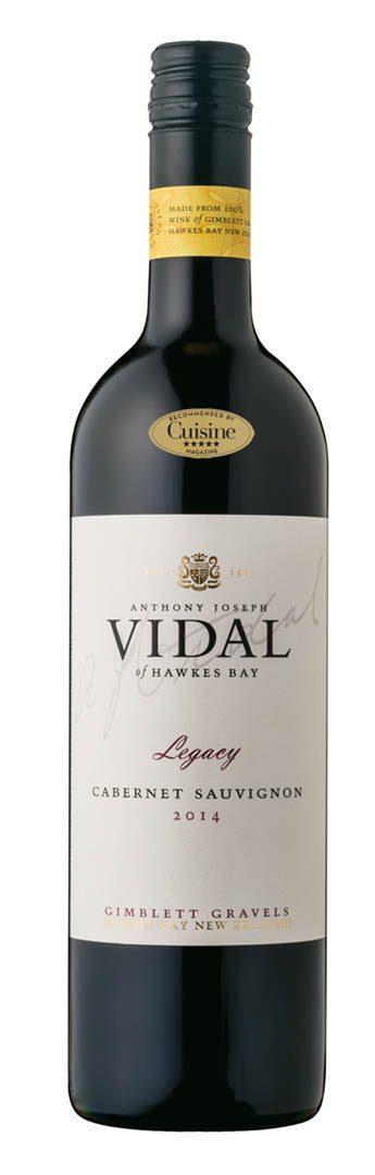 Vidal Legacy Gimblett Gravels Cabernet Sauvignon 2014 (Hawke's Bay)