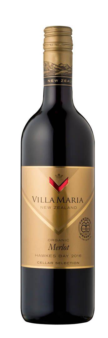 Villa Maria Cellar Selection Organic Merlot 2016 (Hawke's Bay)