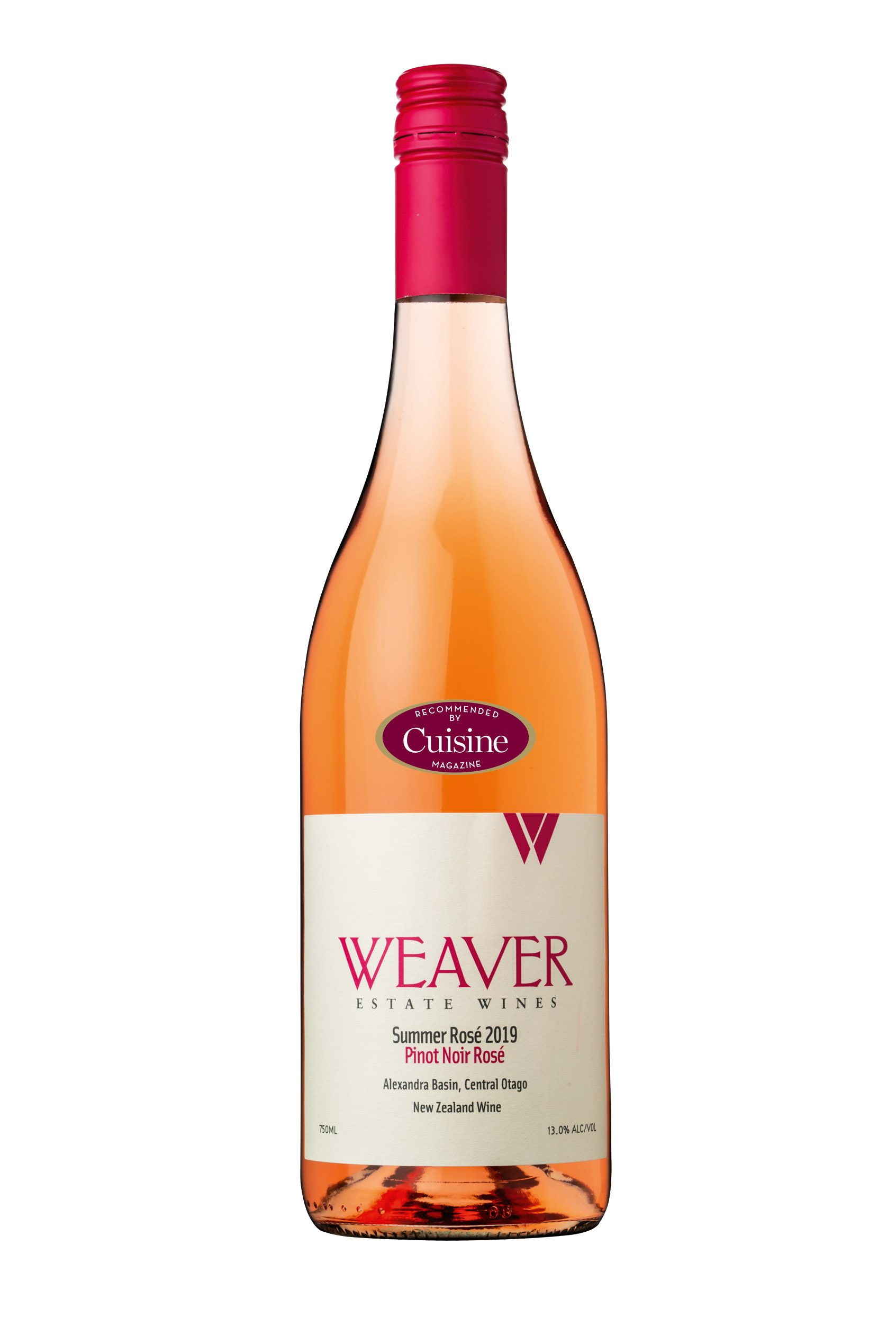 Weaver Estate Wines Summer Pinot Noir Rosé 2019 (Central Otago)