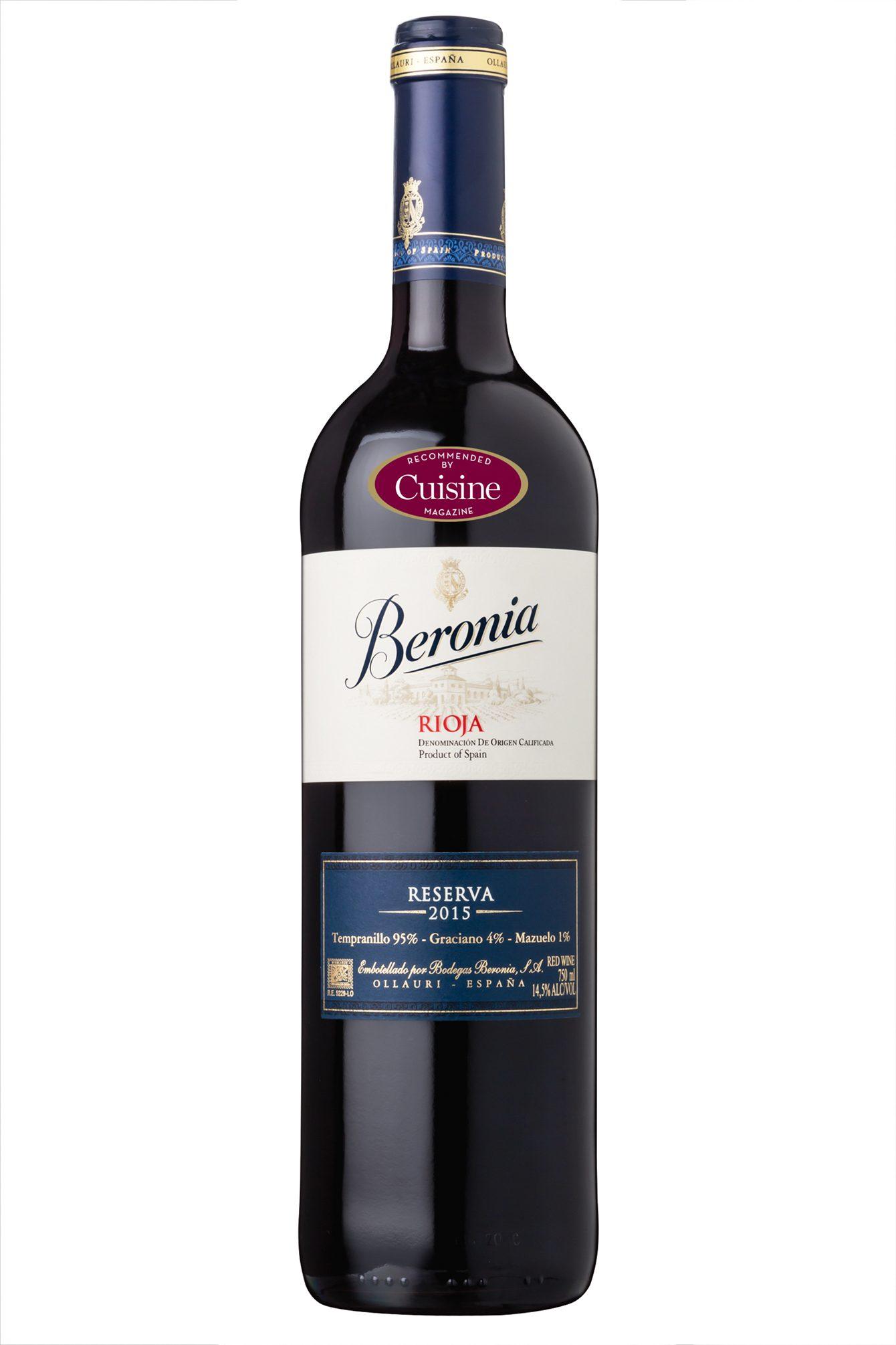 Beronia Rioja Reserva 2015 (Rioja, Spain)